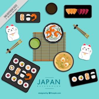 Fundo sobre alimentação e cultura japonesa