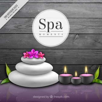 Fundo spa decorativa