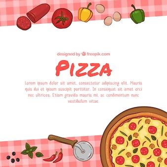Fundo tradicional de pizza