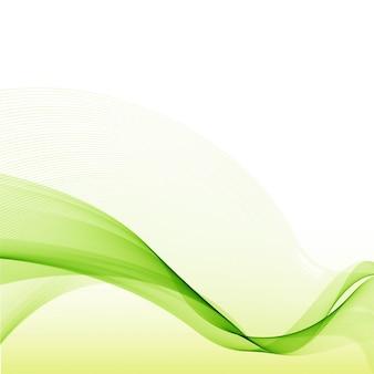 Fundo verde moderno da onda