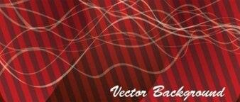 Fundo vermelho com listras e cordas brancas