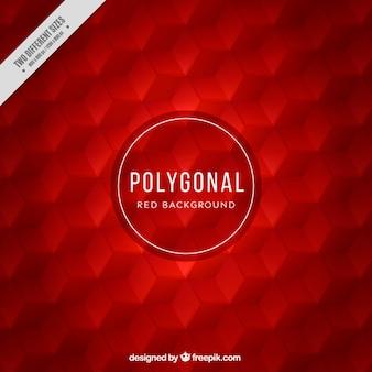 fundo vermelho Hexagonal