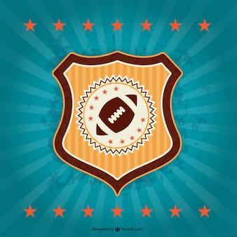 Futebol americano emblema crachá retro