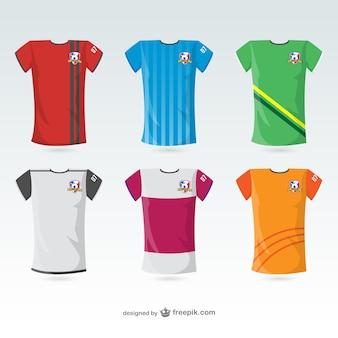 Futebol camisas de t