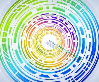 Futurista curva web wallpaper limpa