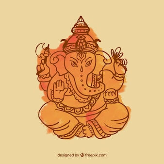 Ganesha Watercolor