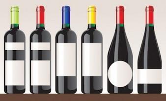 Garrafas de vinho tinto definir