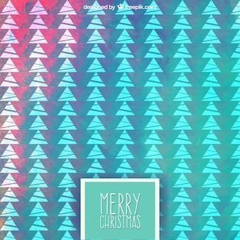 Geométrico colorido teste padrão das árvores de Natal