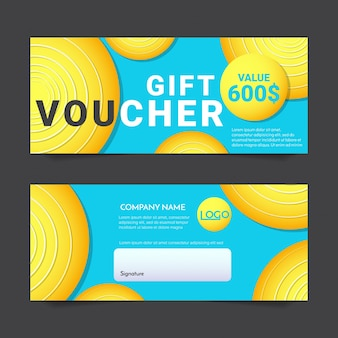 Gift Voucher Vector background para banner, poster, flyer
