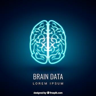 Glowing cérebro
