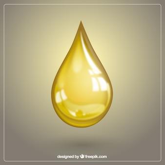 Gota de óleo de oliva