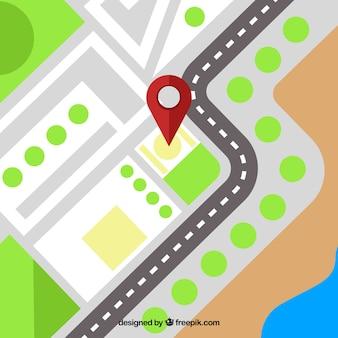 Gps fundo com pin mapa