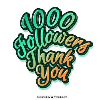 Gradient 1k seguidores de fundo