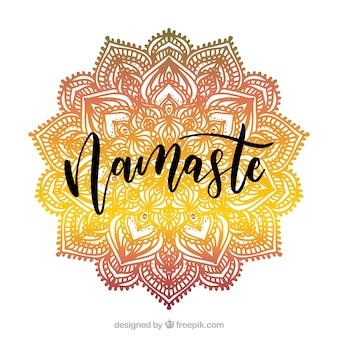Gradient namaste background