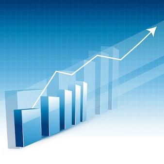Gráfico de crescimento do negócio com seta para cima