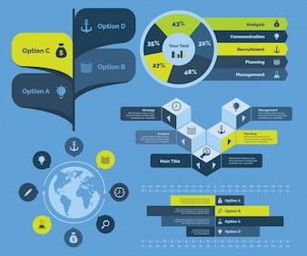 Gráfico empresarial global