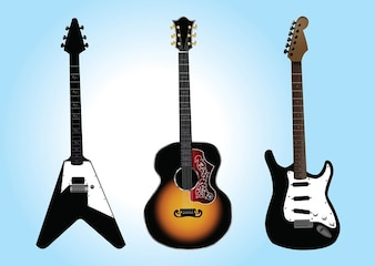 gráficos vetoriais livres de guitarra