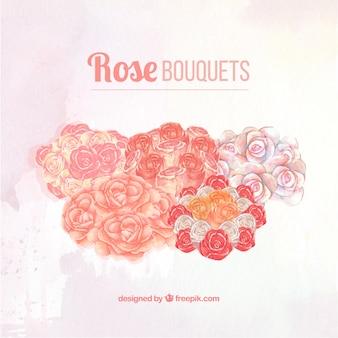 Grande buquê de rosas