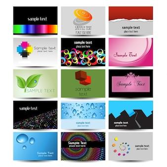Grande coleção de modelos de cartão de visita