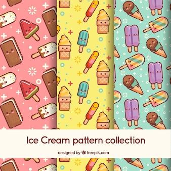 Grandes padrões com personagens de sorvete