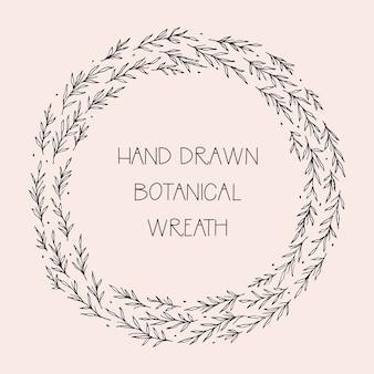 Grinalda editável desenhada mão bonito
