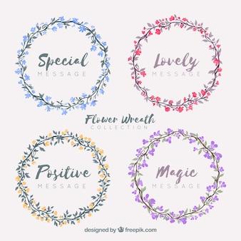 Grinalda floral multicolorida