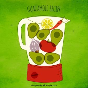 Guacamole receita