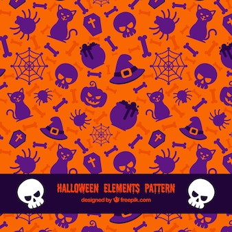 Halloween padrão elementos