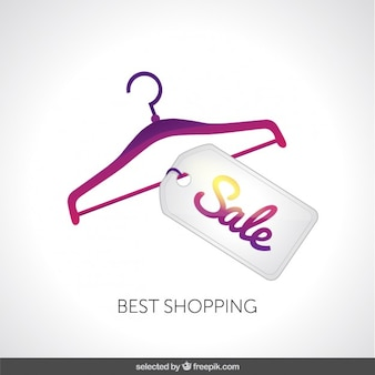 Hanger com etiqueta da venda