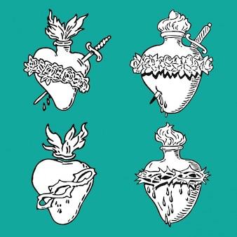 Heart designs coleção