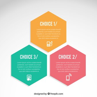 Hexagons infográfico