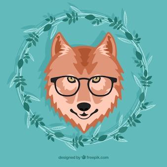 Hispster wolf background