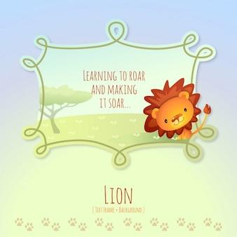Histórias de animais, leão bonito