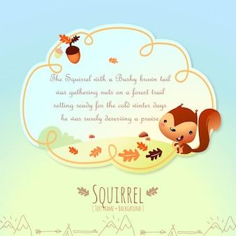 Histórias de animais, o esquilo