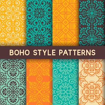 Hoho estilo coleção de padrões sem costura