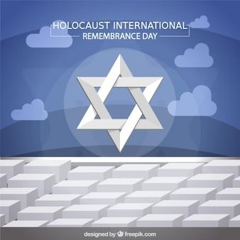 Holocausto dia da relembrança, estrela no monumento em Berlim