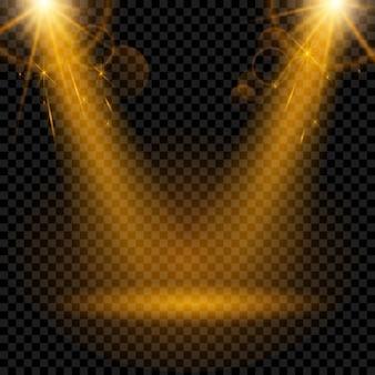 Holofotes efeito de luz