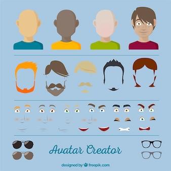 Homem avatar criador