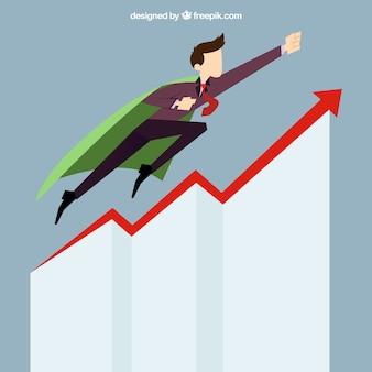 Homem de negócio arranque sucesso