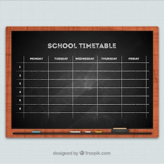 Horários negro da escola