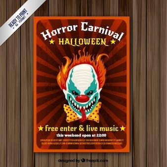 Horror carnaval panfleto