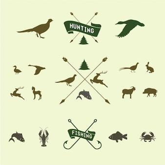 ícone caça set