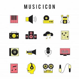Ícone da música set
