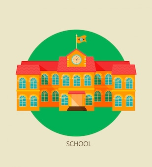Ícone de construção de escola clássica.