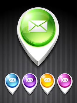 Ícone de correio vetorial design arte