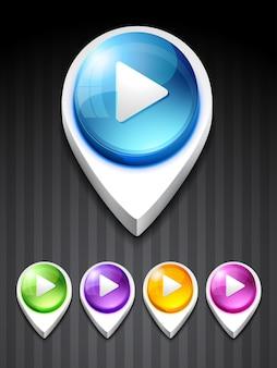 Ícone de jogo de vetores design art