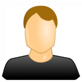 ícone de usuário do sexo masculino