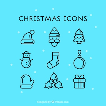 Ícones bonitos do Natal
