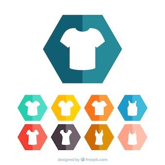 Ícones camisa T