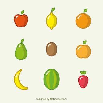 Ícones coloridos da fruta